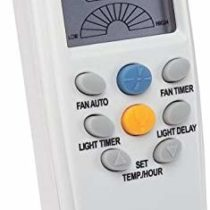 77841 Radio Frequency Ceiling Fan and Light Remote Control with Touchscreen and Timer