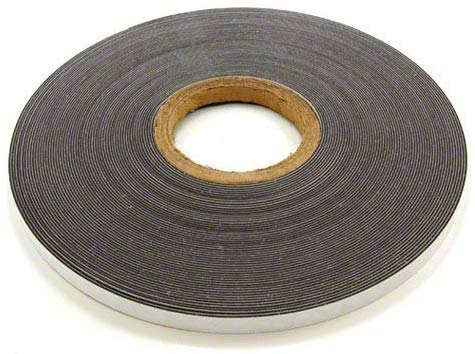 Magnet Expert® 12.7mm wide x 1.3mm thick Gloss White Ferrous Strip with Self Adhesive ( 1m Length )