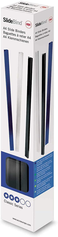 GBC Slide Binders A4 5 mm 20 Sheet Capacity White (25 Pack)