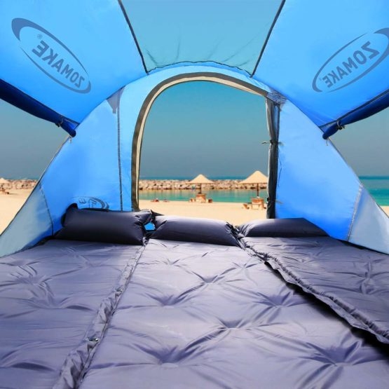 Zomake Pop Up Beach Tent Large For 2 4 Person Portable