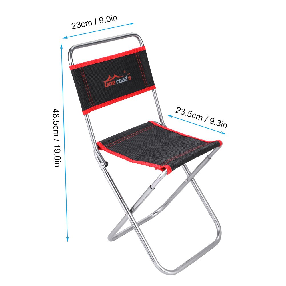 Alomejor Camping Chair Portable Folding Backrest Chair
